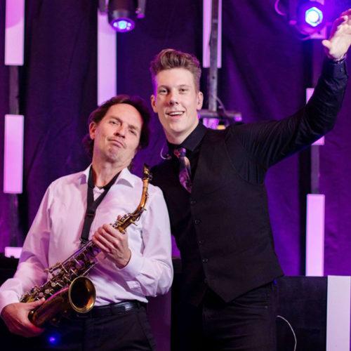 DJ and Jan van Oort on sax